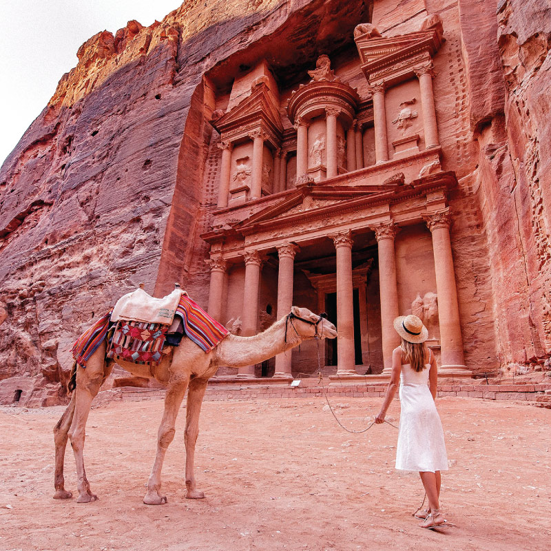 Our tours in Petra Jordan camel ride